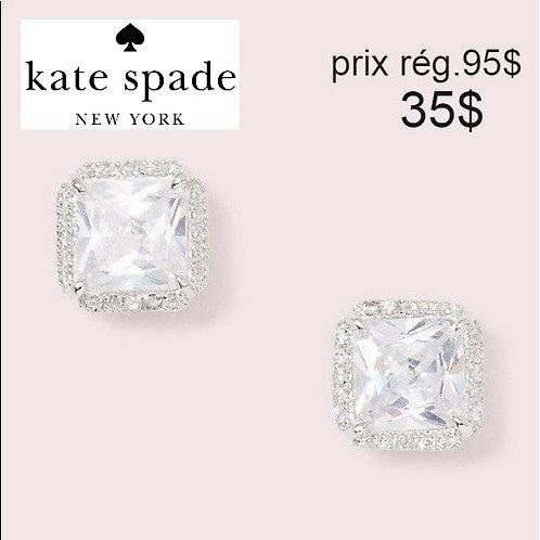 boucles d'oreilles Kate Spade coupe diamant