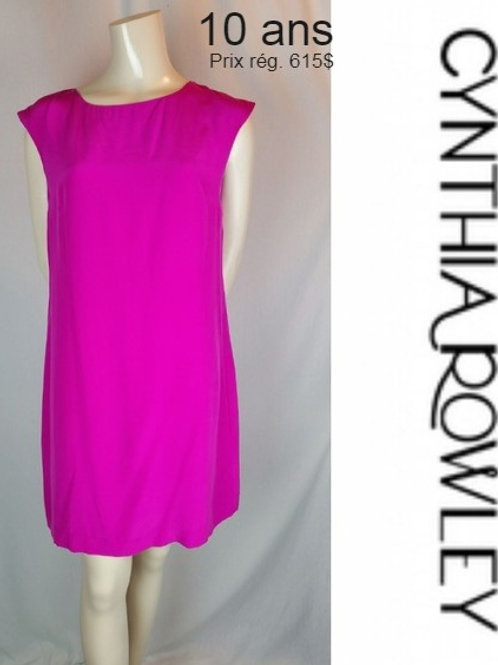 robe rose Cynthia Rowley 10 ans dress pink