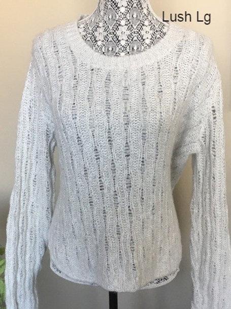 chandail crème Lush large cream sweater knit