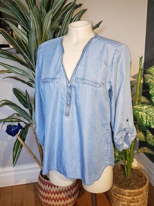 blouse denim bleu small médium