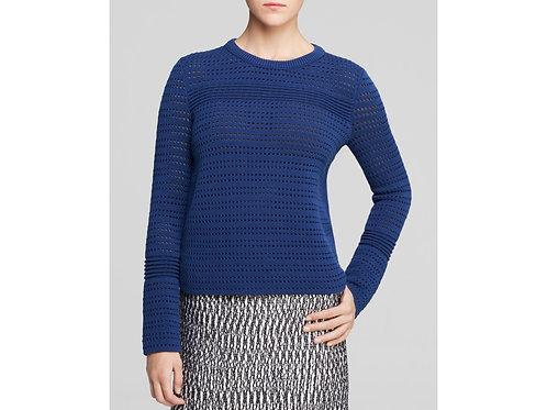 chandail bleu classique Tory Burch medium sweater knit blue