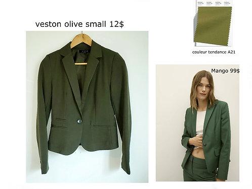 veston vert olive kaki small U2B