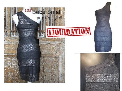 robe ajustée grise et argent Bebe small