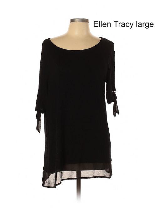 robe noire légère Ellen Tracy black dress large