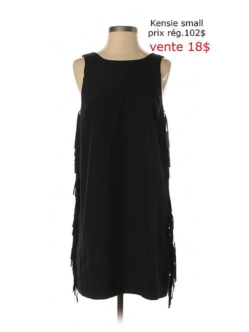 robe noire avec franges, Kensie small