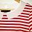 Thumbnail: t-shirt Tommy Hilfiger rayé rouge blanc médium