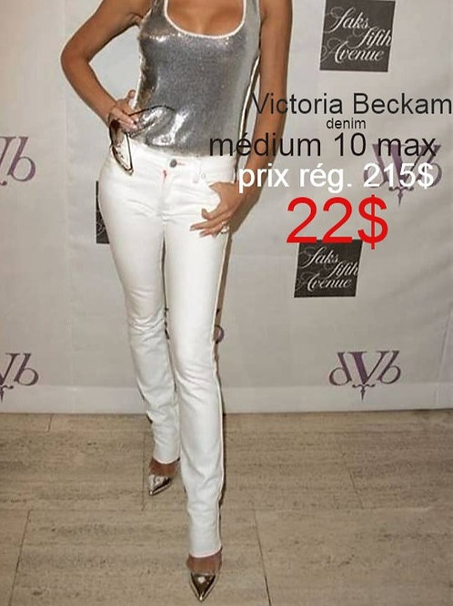 jeans blancs Victoria Beckham Médium