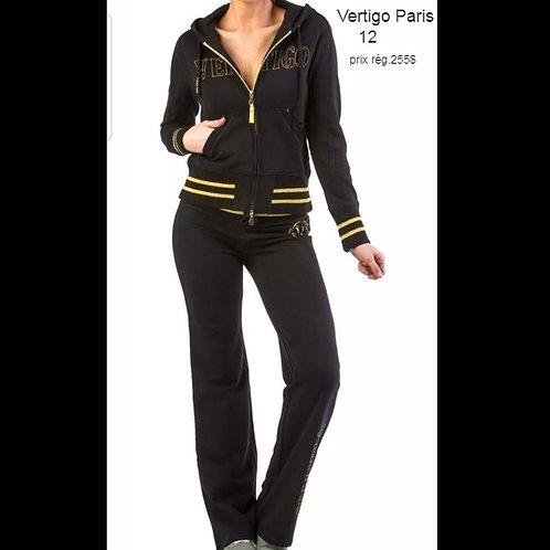 ensemble pantalons et veste Vertigo Paris 12 ans large noir
