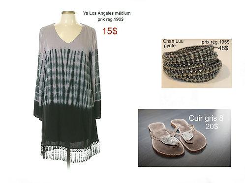robe boho grise noire sarcelle Ya Los Angeles small médium