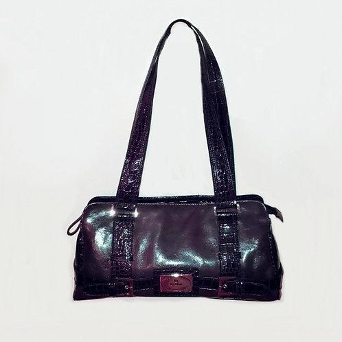 sac à épaule en cuir violet La Diva