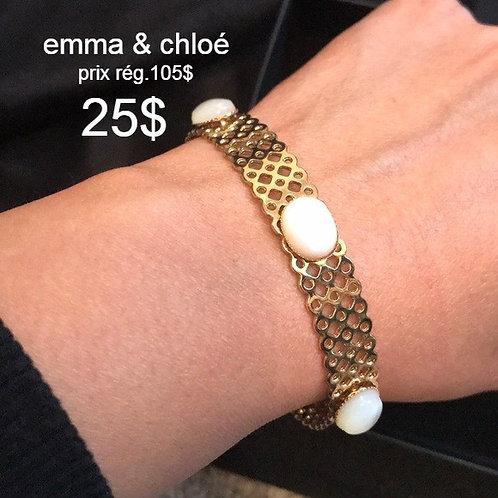 bracelet Emma & Chloé doré