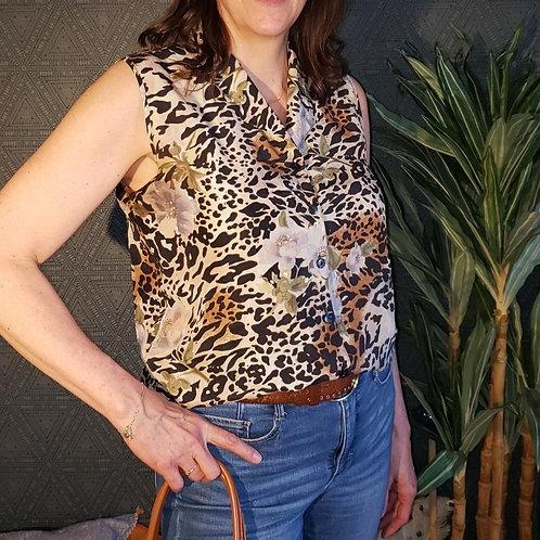 blouse imprimé animal soie Médium