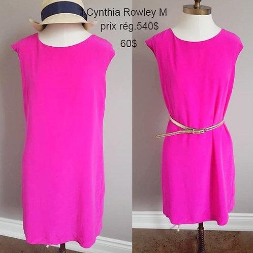 robe soie rose cynthia rowley