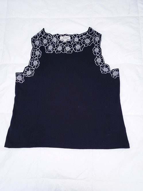 camisole noire et blanche large top Jessica