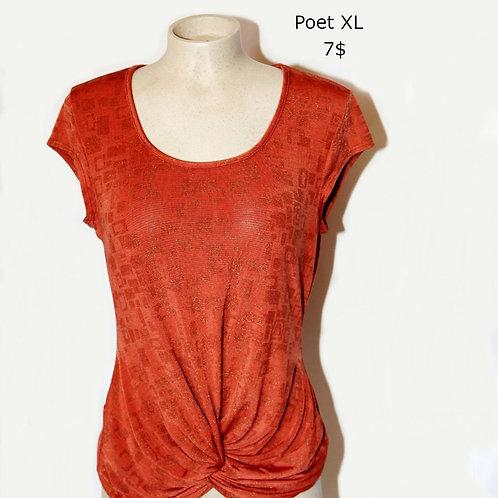 chandail t-shirt rouille Poet xl