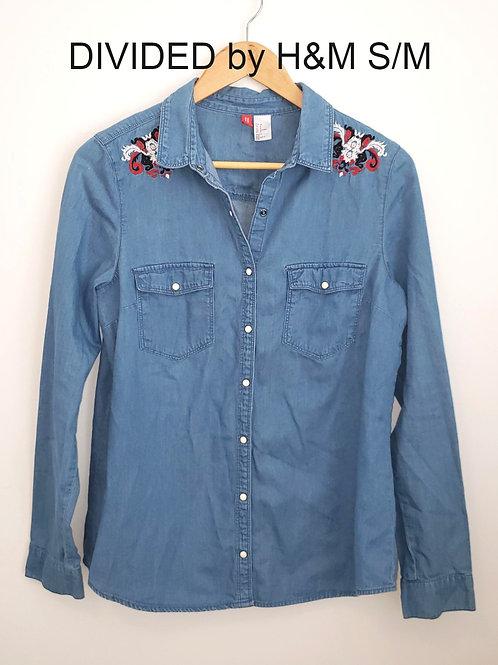 chemise bleu Divided by H&M blue shirt size 8 medium