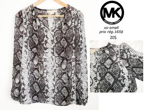 blouse noir blanc animal xs small Michael Kors