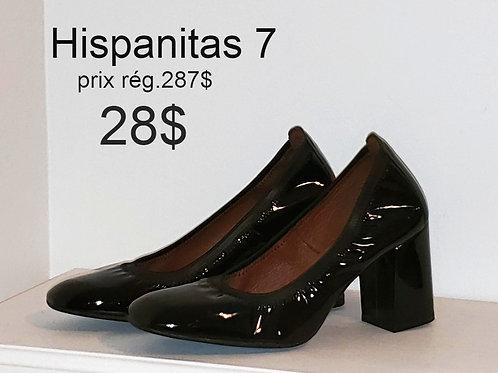 souliers Hispanitas 7 38 noir cuir
