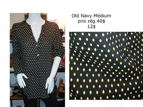 blouse noire Old Navy Médium motifs