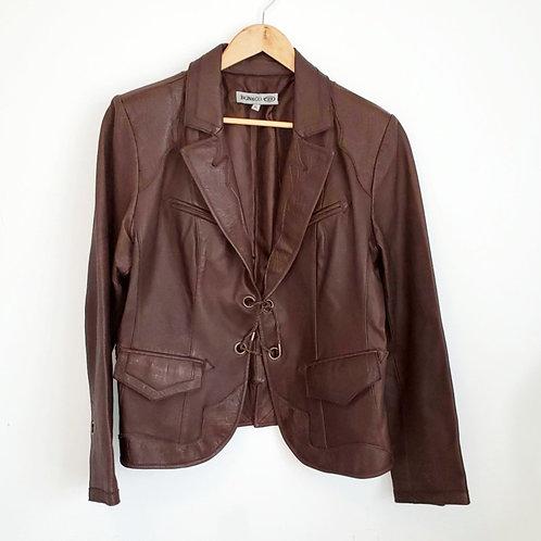manteau veston cuir brun xl BNG & CO