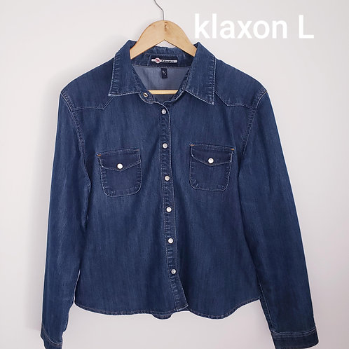 chemise jeans Klaxon large denim shirt