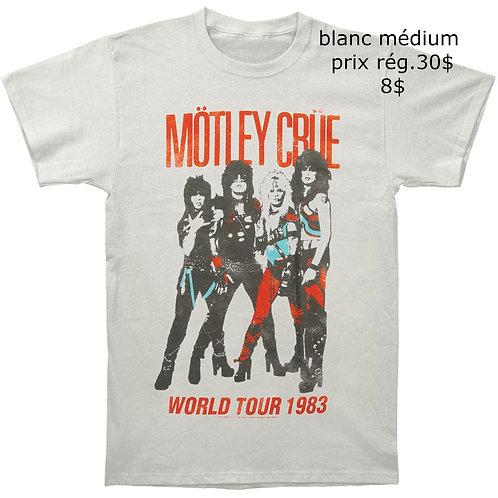 t-shirt blanc Motley Crue médium