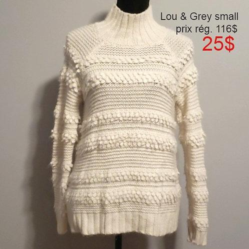 chandail tricot crème Lou & Grey small