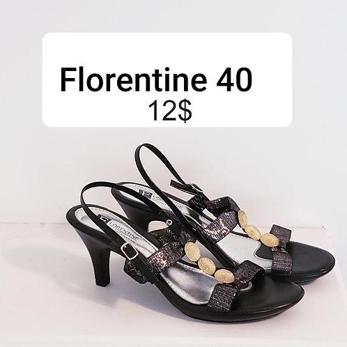 sandales noir or et argent Florentine 9