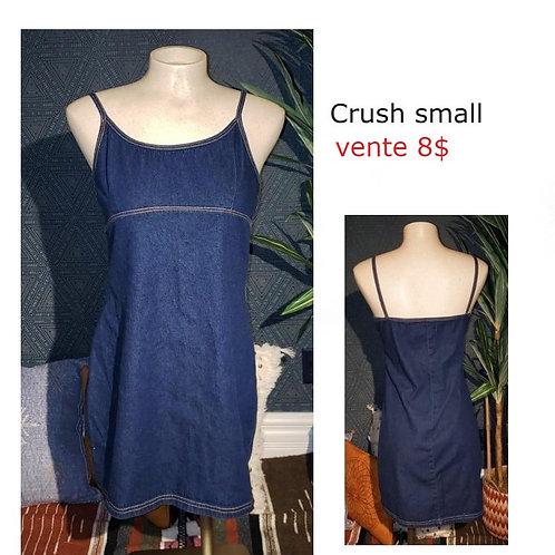 robe jeans denim bleue Crush small