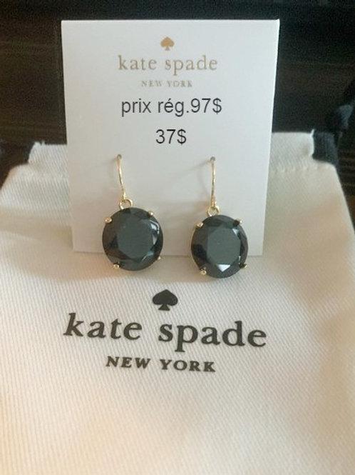 boucles d'oreilles Kate Spade noir