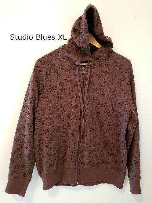 veste à capuche brune et noire xl