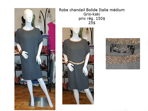 robe Bolide Italie gris kaki médium large