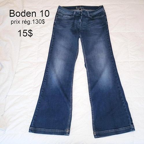 jeans bleu Boden 10 ans Large jambe évasée