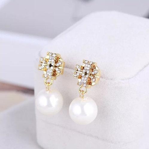boucles d'oreilles perles Tory Burch pearl earrings