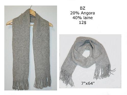 foulard gris luxe angora, laine