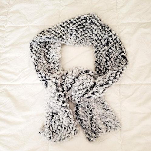 foulard ultra doux blanc et gris