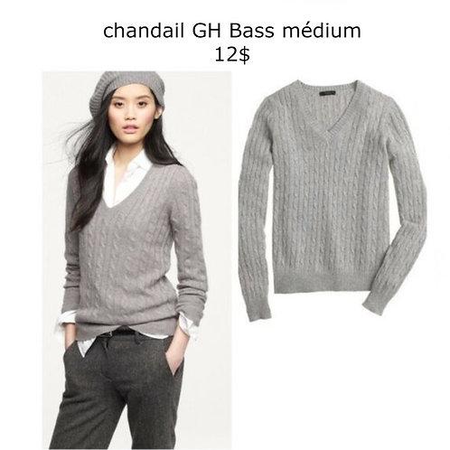 chandail côtelé gris médium G.H. Bass