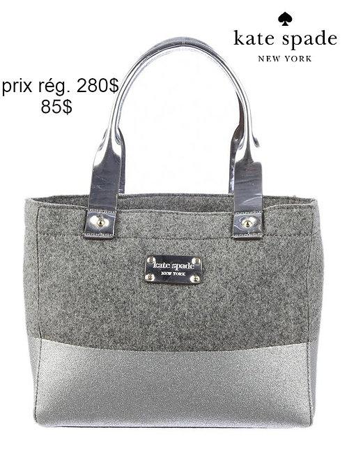 sac Kate Spade gris argent