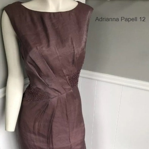 robe rouge vin Adrianna Papell bordeaux dress