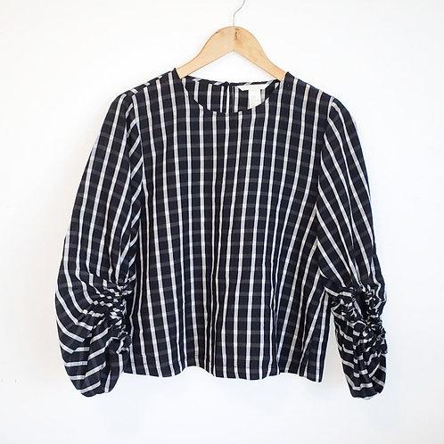 blouse top noir blanc carreaux 8 ans medium