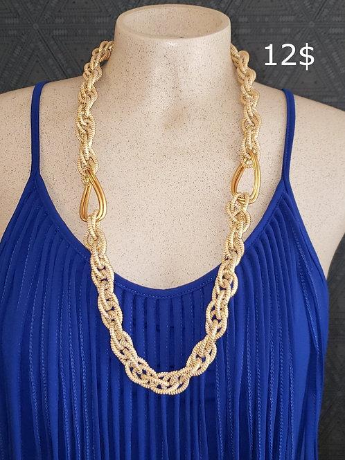 collier or et argent en chaine