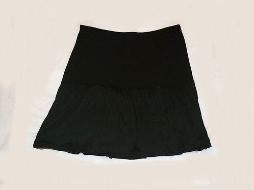 jupe courte noire Chantal Côté Design large