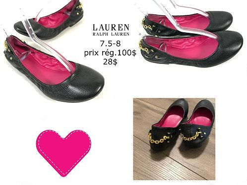 souliers ballerine noir Lauren Ralph Lauren 7.5 - 8