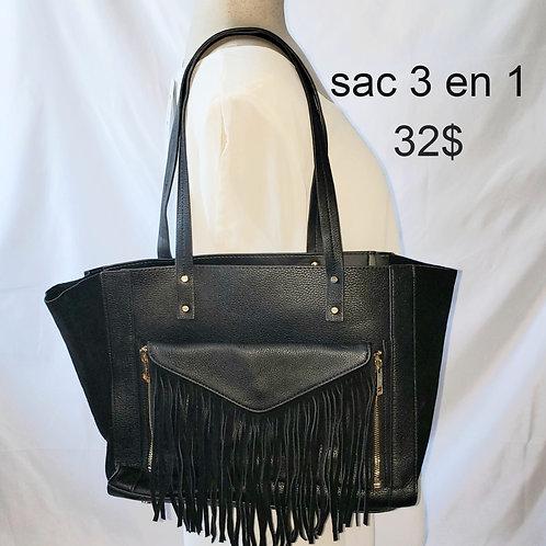 sac sacoche noir franges