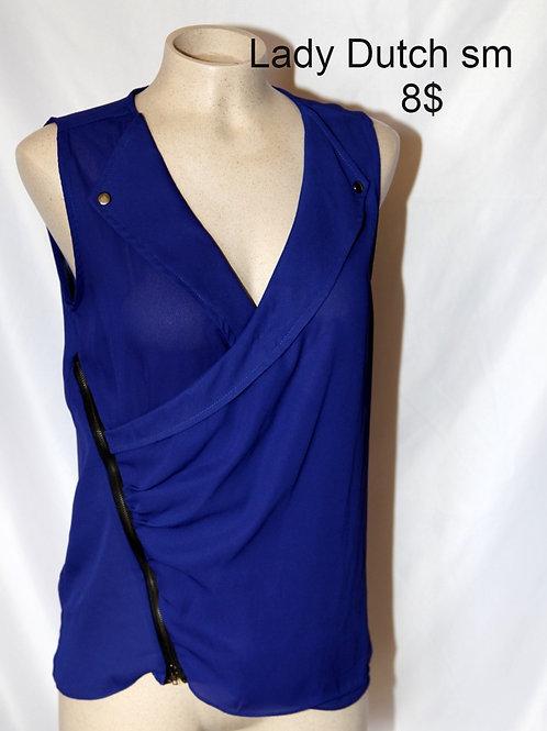 blouse XS Lady Dutch bleu violet