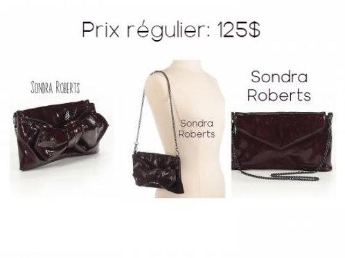 sac à main Sondra Roberts rouge vin bag