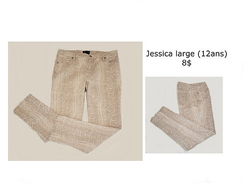 jeans imprimé animal 12 ans large Jessica