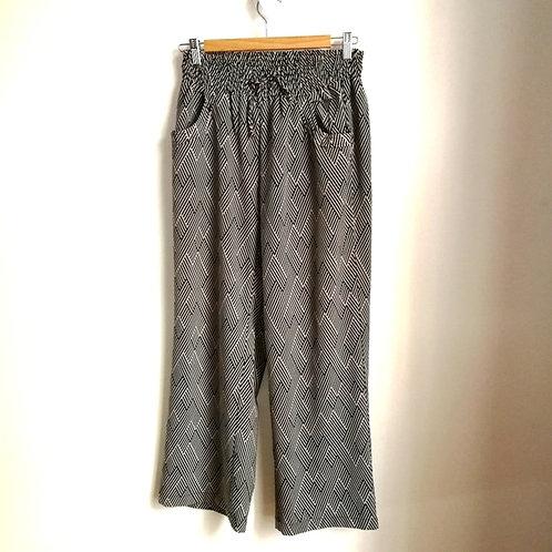 pantalons Nanette Lepore large 8 10 ans noir beige