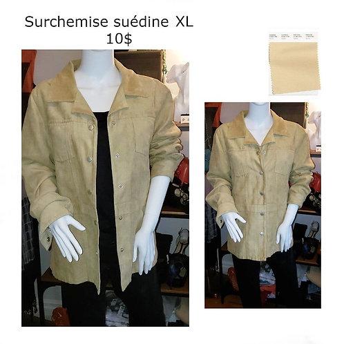 veste ou surchemise tan suédine L-XL