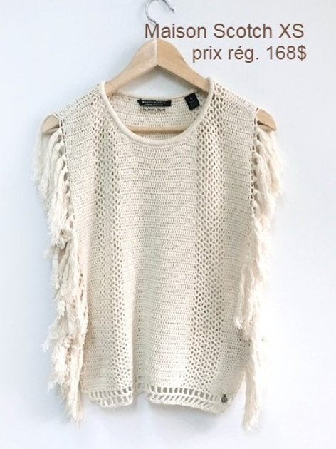 Chandail Maison Scotch XS crème top